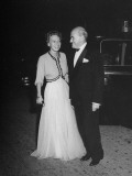 Dancer/Vera Zorina with Movie Producer Samuel Goldwyn as They Arrive for at Motion Picture Premiere