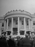 Crowd Standing Outside White House During Inauguration of President Franklin D Roosevelt
