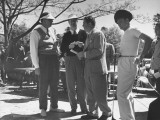 Golfer Byron Nelson Talking with Fellow Golfers Fred Corcoran and Jimmy Demaret