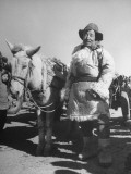 Manchurian Mule Driver Wearing Typical Mongolian Sheepskins