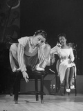 Cafe Society Dancer Dorothy Jarnack Doing a Chair Dance