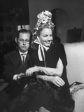 Louis Busch Sitting with His Wife Janet Blair Busch at the Fashion Show