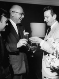 Billy Daniels  Mitchell Leisen and Don Loper Laughing Together at the Fashion Show