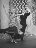 "Dancers Enrica and Novello Performing a Dance Routine on Set of ""Hour Glass"" Program"