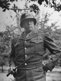 American General George S Patton in Normandy  France