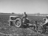 Charles C Todd and Boyd Green Using the Tractor on the Country Farm