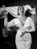 Nightclub Singer Julie Wilson  Using Hand Gestures While Singing at the Mocambo Club