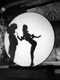 "Actress Carole Landis Performing the Flame Dance Sequence for the Movie ""Scandal in Paris"""