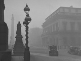 A View of the Fog Drenched Streets of London