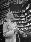 John Rogers in the Prescription Room of His Old-Fashioned Pharmacy
