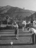 Guests Playing Putt-Putt Golf at Catalina Island