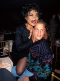 Singer Eartha Kitt and Actor Woody Harrelson