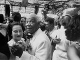 Sidney Bechet Dancing with His Wife  Elizabeth Ziegler  at their Wedding at Antibes French Riviera