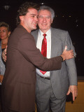 (L-R): Actor Ray Liotta Hugging Father