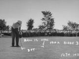 Golfer Byron Nelson Putting for a Birdie on 14th Hole