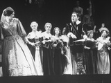 "Opera Singers Joan Sutherland and Richard Tucker in ""Lucia Di Lammermoor"" at the Metropolitan Opera"