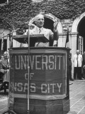 President Harry S Truman Speaking at University of Kansas City