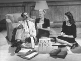 Comedian Groucho Marx Playing a Game with Two Women