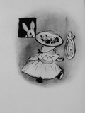 Drawing by Marian Foster from Book &quot;Miss Flora Mcflimsey&#39;s Easter Bonnet&quot;