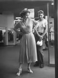 Mrs Joan Keefe Examining Herself in Macy's Version of Rita Hayworth's Wedding Dress