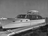 A Luxurious Chris-Craft Cabin Cruiser at Dock