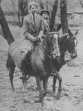 Eleanor Roosevelt Riding Horses with Unidentified Woman