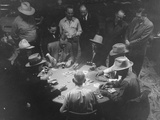 Hotel Owner Newton Crumley and Others Playing Old-Fashioned Poker Game