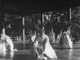 Dancers Performing Rice Harvest Dance at Inari Shrine