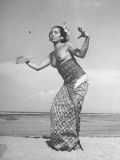 Balinese Dancer Pollok  Performing an Old Liagon Dance