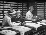 D N Pogue and Charles Stimson Visiting County Clerk's Office to Peruse Real Estate Records