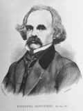 Artist's Rendering of American Author Nathaniel Hawthorne
