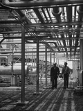 Workers Walking Through the Oil Shale Retorting Refinery