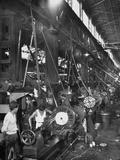 Machinists Working in Ship Construction Machine Shop