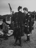 A Piper and a Dancer Chatting at the Banff Gathering
