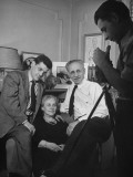 Artist William Stieg Posing with His Mother and Father