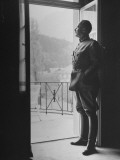 Commander-In-Chief of the Swiss Army General Henri Guisan Standing in Doorway