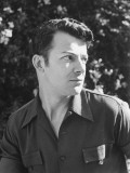Actor Cornel Wilde  Candid Portrait Outside