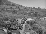Mountain Regiment-US Army in Truck and Jeep Convoy