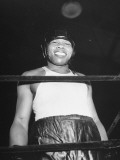 Close-Up of Boxer Joe Louis Smiling in Boxing Ring