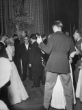 Couples Dance around French President Felix Gouin at the Victory Ball Held in the Paris Opera House