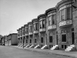 A View of a Stone Town Houses in Baltimore