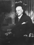 Composer Jean Jan Sibelius Smokes a Finnish Cigar of Balcan Tobacco But Prefers Long Havanas