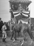 President Harry S Truman Watching a Horse at the 1945 Missouri Fair