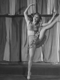 Actress Vera Ellen Practicing Steps for Her Next Picture