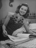 Mexican Film Actress Mapy Cortes Looking over a Script