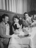 Actor Victor Mature  Dining with Actress Buff Cobb at a Night Club