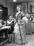 Opera Singer Renee Mazella Having Her Costume Fitted