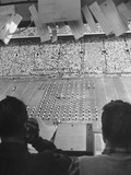 A View of a Notre Dame Football Game During Half-Time
