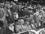 President Harry S Truman Mixing with the Crowd at Opening Baseball Game