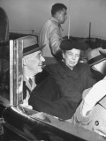 President Franklin D Roosevelt Riding with His Wife on a Tour of New York